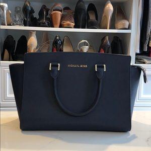 Michael Kors Navy Selma Bag